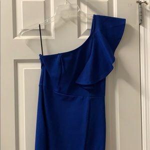 Royal blue form fitting cocktail dress